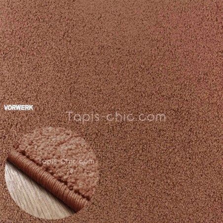 Tapis sur mesure Chocolat gamme Larea par Vorwerk