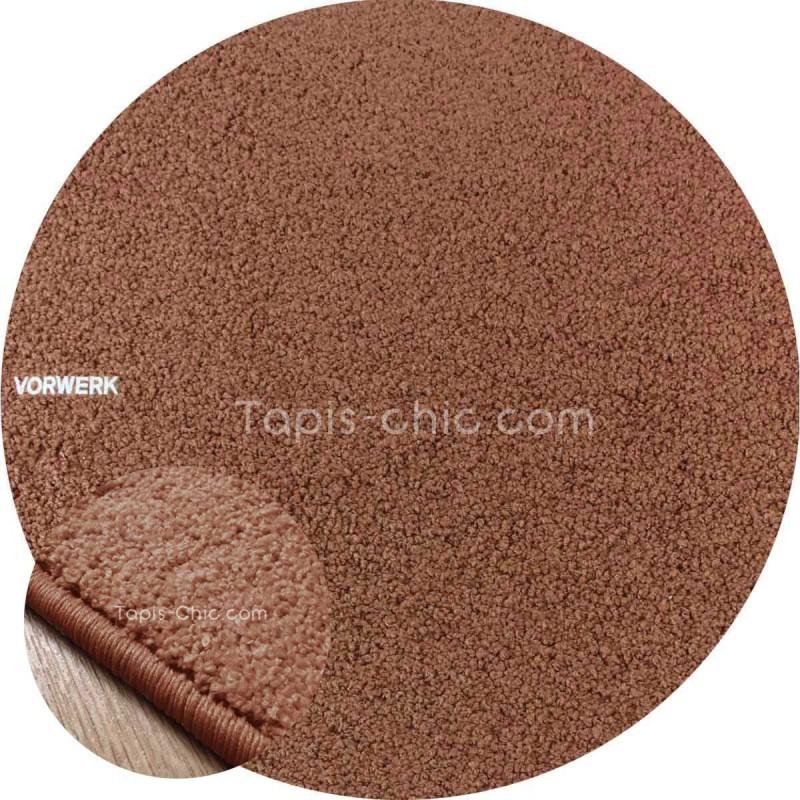 Tapis sur mesure rond Chocolat gammeLarea par Vorwerk