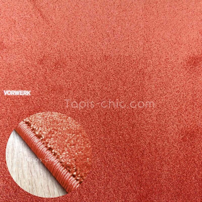 Tapis sur mesure Orange Corail gamme Lyrica par Vorwerk