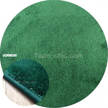 Tapis sur mesure rond Vert Sapin gammeLyrica par Vorwerk