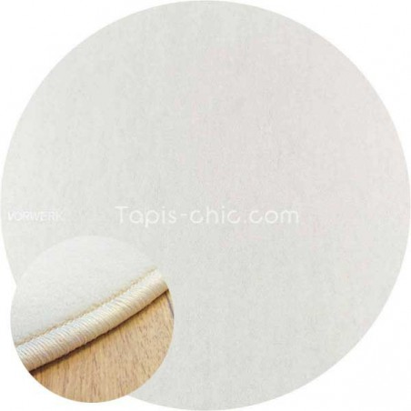 Tapis sur mesure rond Blanc par Vorwerk gammeModena