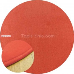 Tapis Sur Mesure Rond Orange Corail