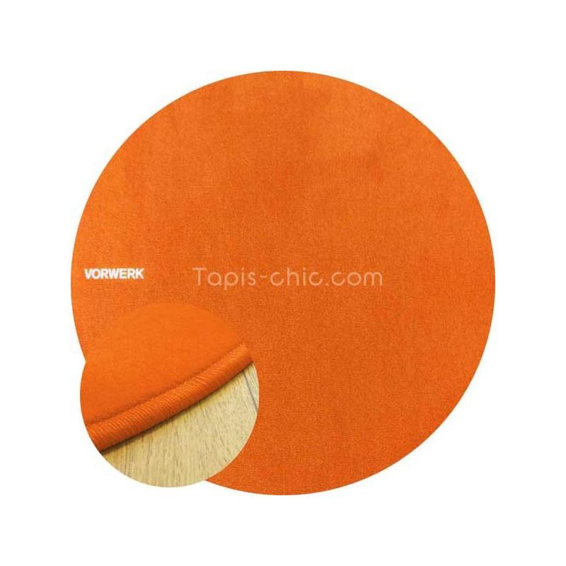 Tapis sur mesure rond Orange par Vorwerk gammeModena