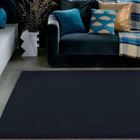 Tapis De Salon Sari Bleu Nuit Par Tapis Chic Collection