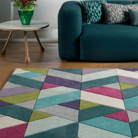 Tapis de salon Chapes blue green par Joseph Lebon