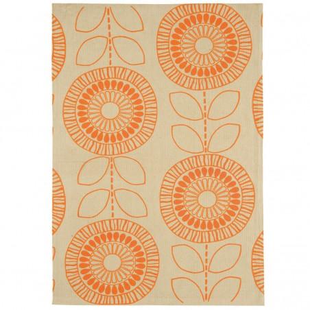 Tapis de salon Flower Power Orange par Joseph Lebon
