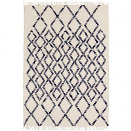 Tapis de salon Géométrique Skagen Diamond Bleu par Joseph Lebon