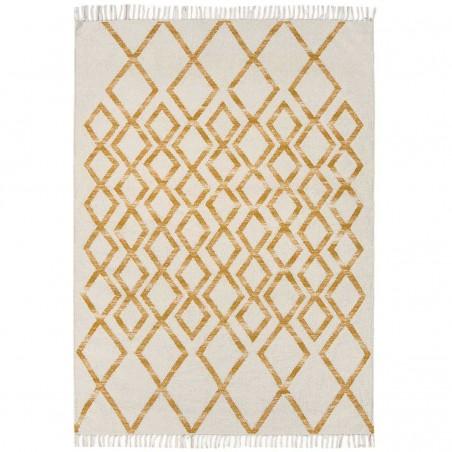 Tapis de salon Géométrique Skagen Diamond Jaune par Joseph Lebon