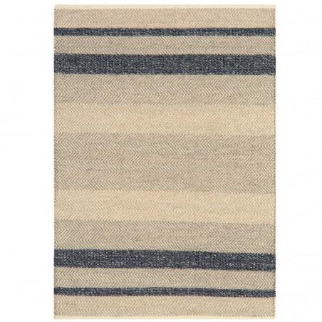 Tapis de salon à rayures Stripes Noir Ebene par Joseph Lebon