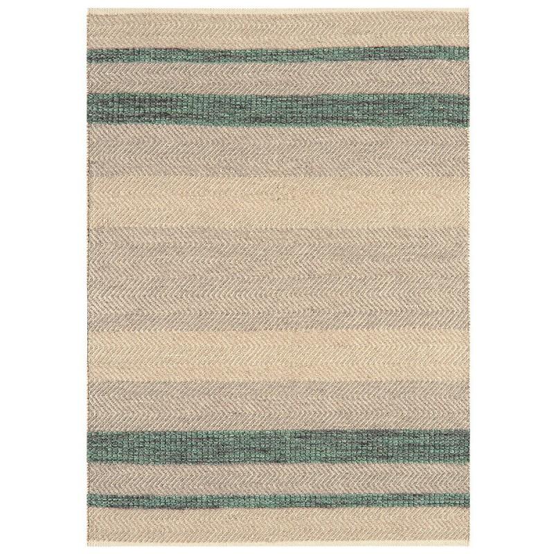 Tapis de salon à rayures Stripes Vert Emeraude par Joseph Lebon