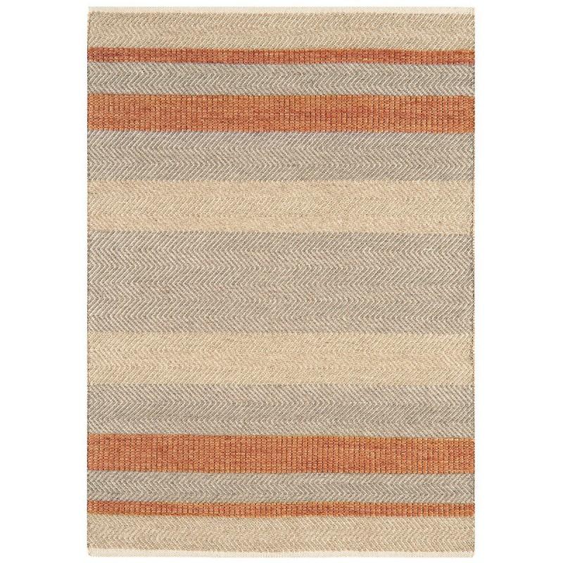 Tapis de salon à rayures Stripes Orange Corail par Joseph Lebon