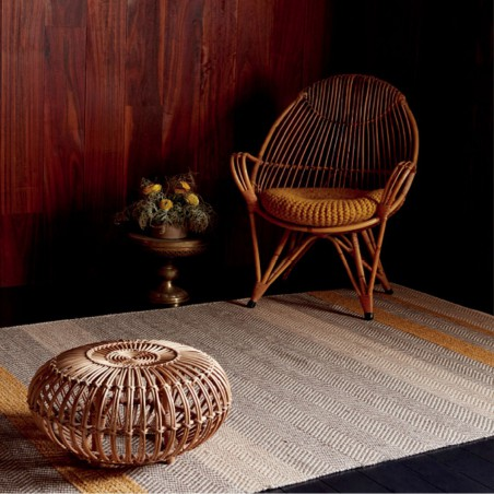 Tapis de salon à rayures Stripes Jaune Moutarde par Joseph Lebon
