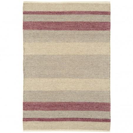 Tapis de salon à rayures Stripes Rouge Bordeaux par Joseph Lebon