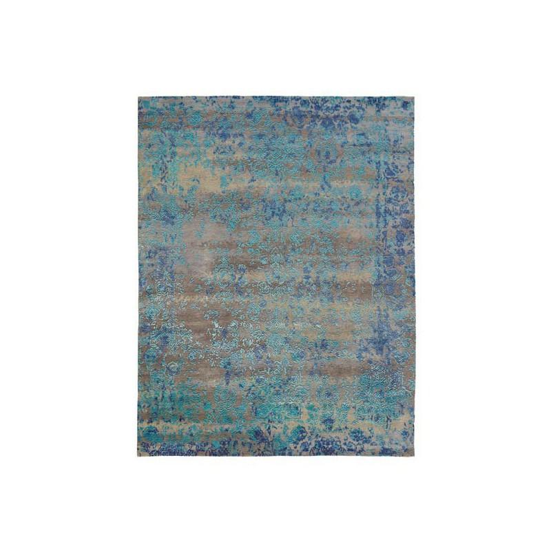 Tapis de luxe Héritage bleu laine par Angelo