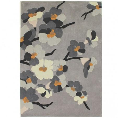 Tapis de salon Fleurs Blossom Gris par Flair Rugs