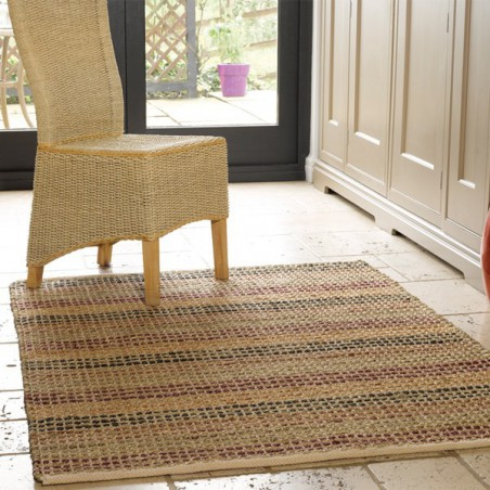 Tapis en jute Natural Living beige et pourpre par Flair Rugs