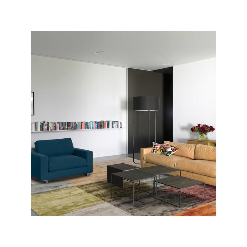 Tapis de salon en viscose Sahara multicolores par Angelo