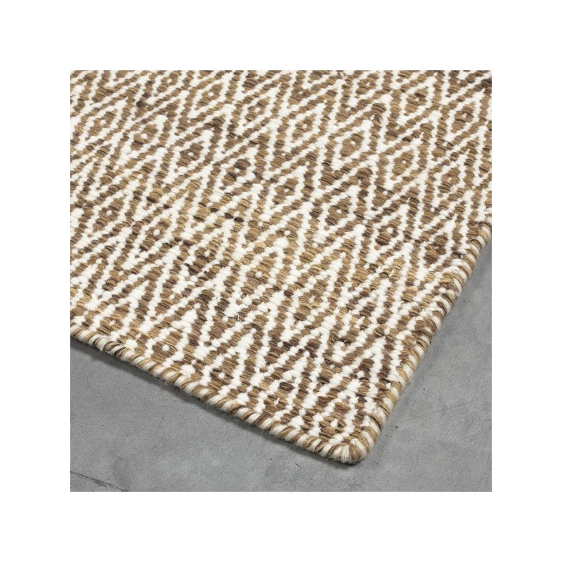 Tapis en Laine Mic Mac Marron Clair