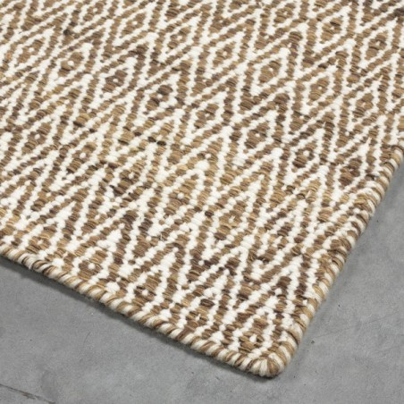 Tapis en laine Mic Mac Marron Clair par Angelo