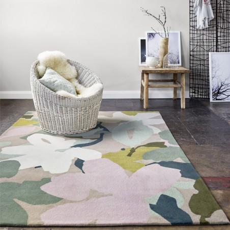 Tapis moderne en laine Bloom taupe par Esprit Home