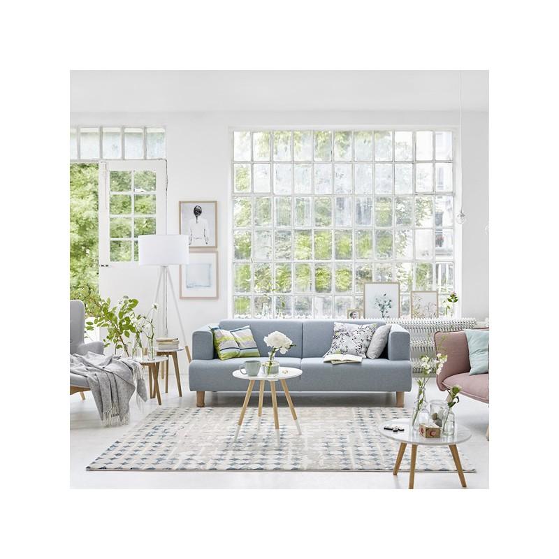 Tapis de salon design Spots Bleu Pétrole par Esprit Home