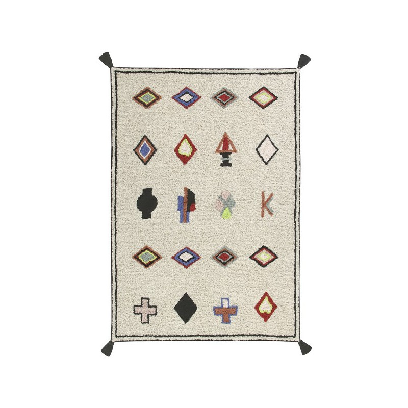 Tapis en coton à motifs berbères Naador par Lorena Canals