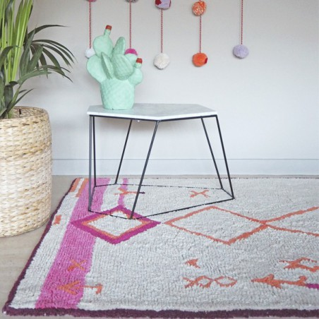 Tapis en coton à motifs berbères Saffi par Lorena Canals