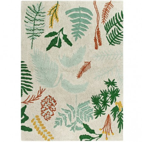 Tapis moderne en coton Botanic par Lorena Canals
