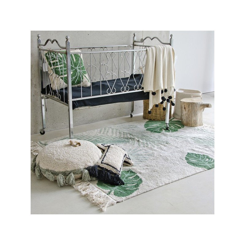 Tapis lavable en machine Tropical Vert par Lorena Canals