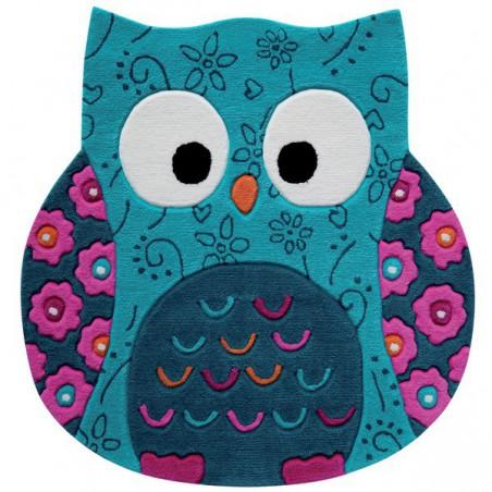 Tapis enfant Petite Chouette Turquoise par Tapis Chic Collection