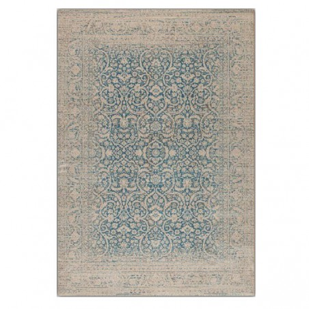 Tapis de salon Patina vintage bleu par Tapis Chic collection