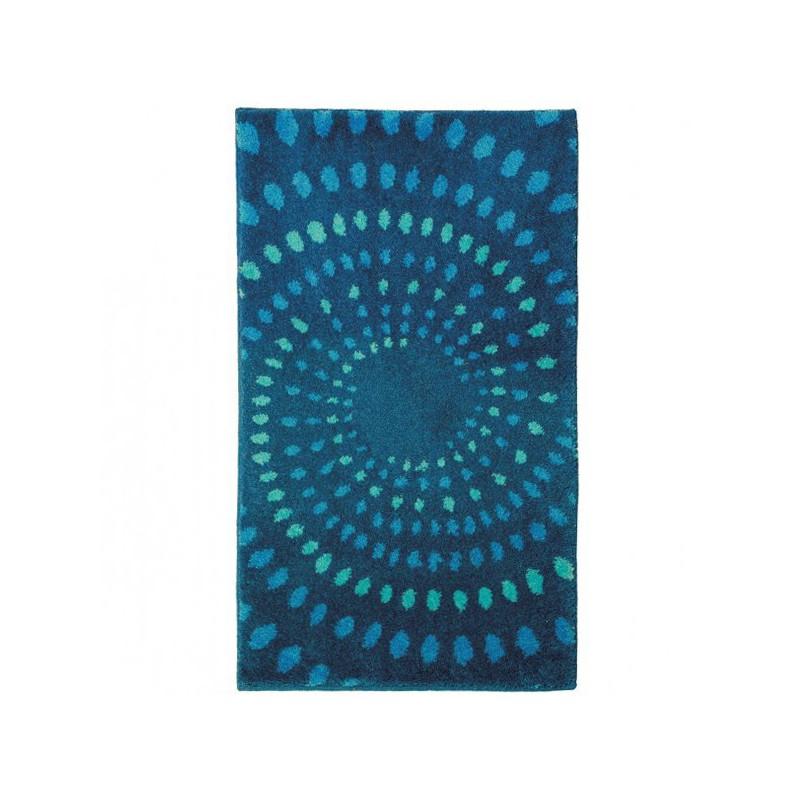 Tapis de salle de bain Mauritius Circles Bleu par Tapis Chic Collection