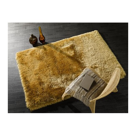 Tapis rectangulaire shaggy épais Pearl Moutarde par Tapis Chic Collection