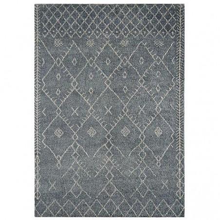 Tapis style berbère en laine bleu Oujda par Tapis Chic collection