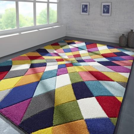 Tapis en laine multicolore Rhumba par Flair Rugs