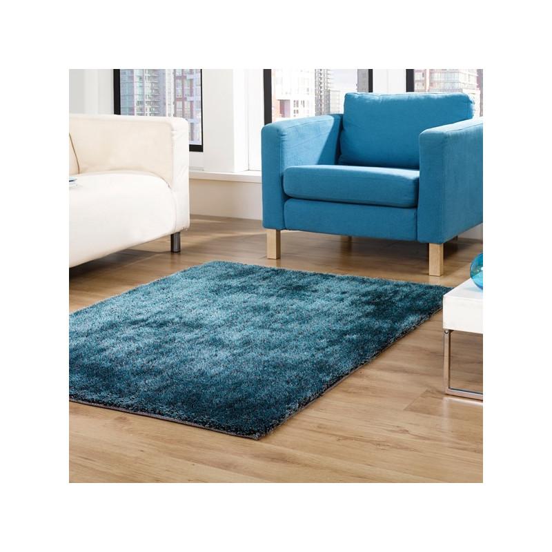 Tapis design shaggy Vista Bleu Canard par Flair Rugs