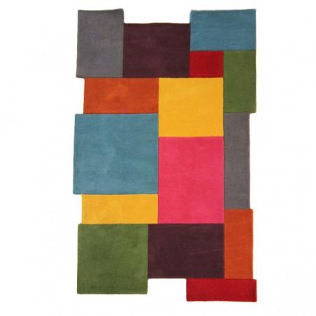 Tapis design Collage déstructuré 100% laine Multicolore par Flair Rugs