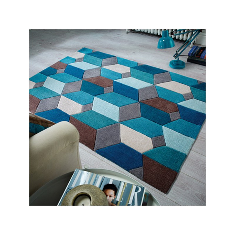 Tapis Design Scope Bleu par Flair Rugs