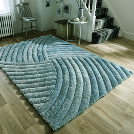 Tapis Design Furrow Natural par Flair Rugs