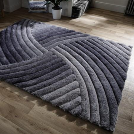 Tapis Design Furrow Gris  par Flair Rugs
