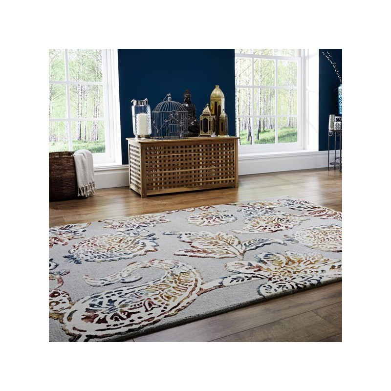 Tapis bureau en laine à motif floral soho Sirius par Luxmi