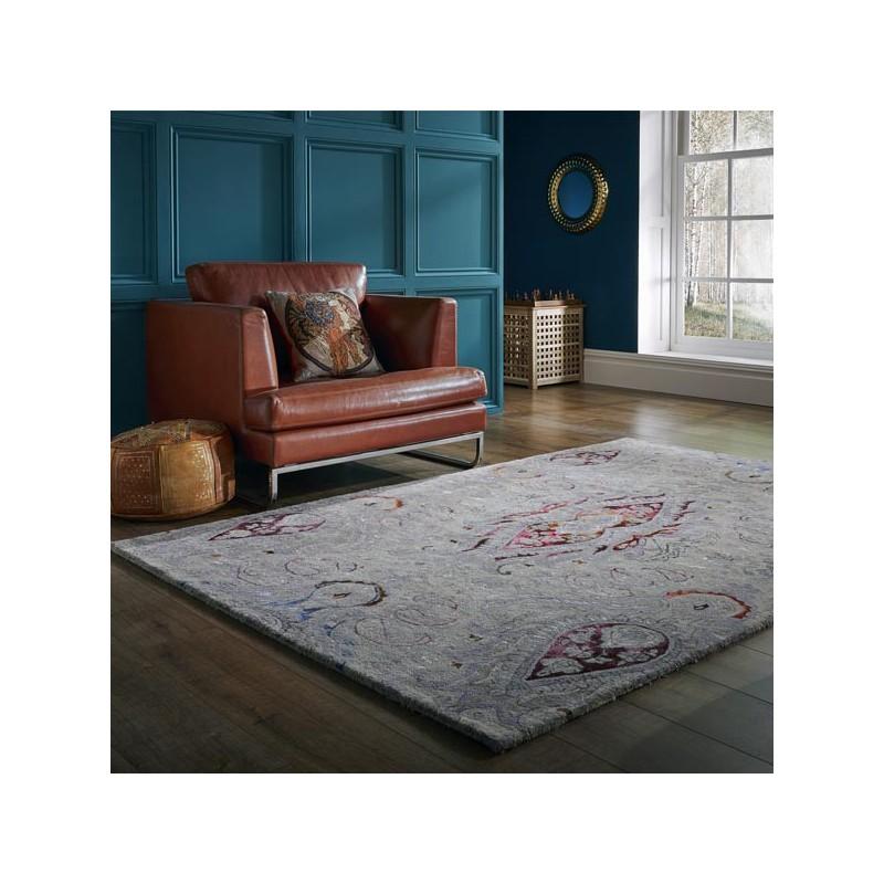 Tapis en laine et viscose à motifs Persian Fusion Cedar par Luxmi