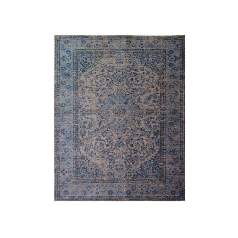 Tapis design vintage Palais Bianco Bleu par Luxmi