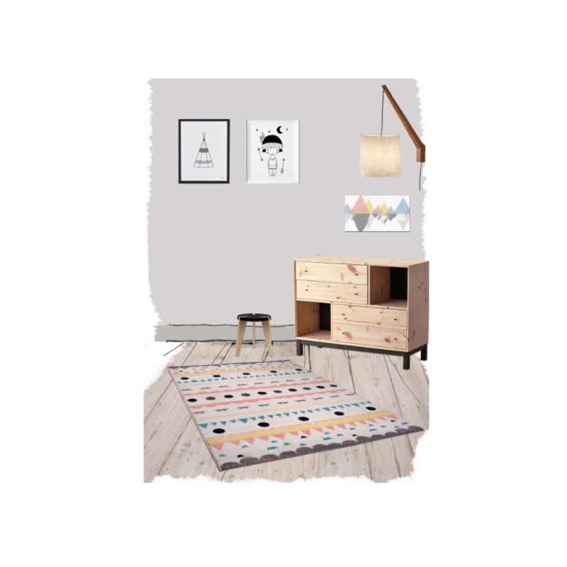 tapis de chambre fille sweet nolita par nattiot. Black Bedroom Furniture Sets. Home Design Ideas