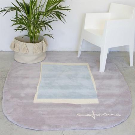 Tapis design en Laine Lake Bleu par Lorena Canals
