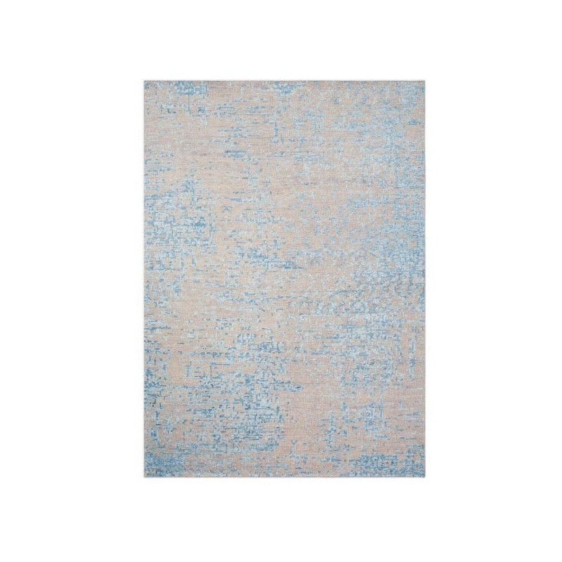 Tapis Design noué main Reflect bleu par Ligne Pure