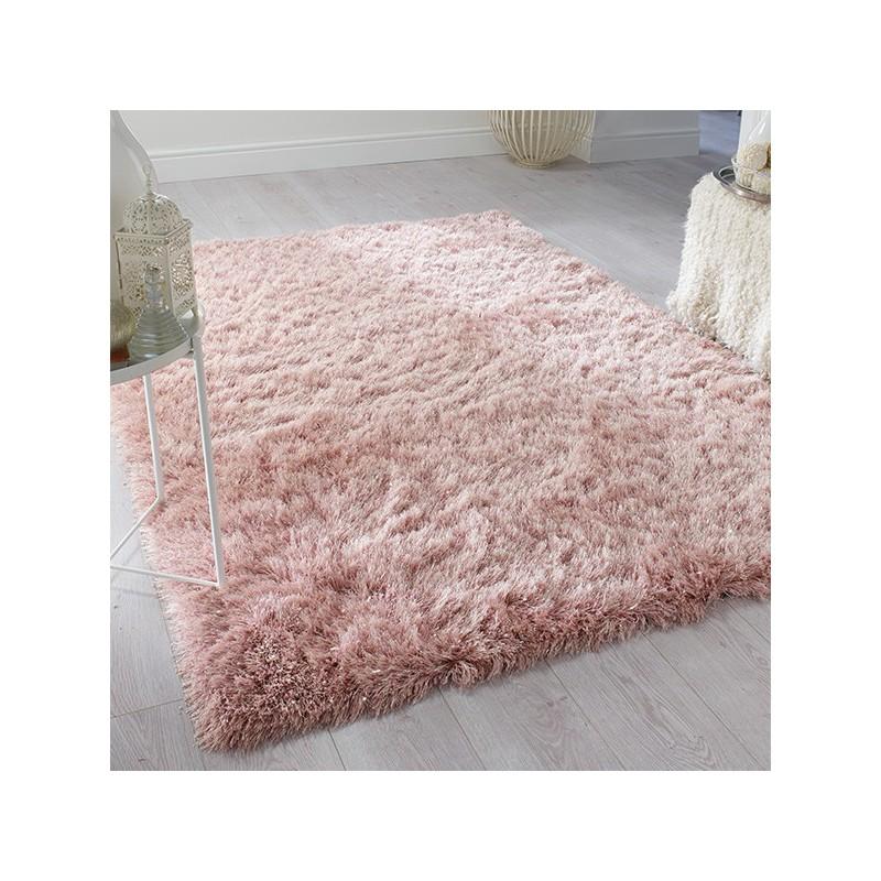Tapis Design Glizz Rosé poudré par Tapis Chic collection