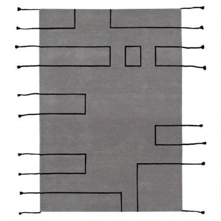 Tapis design en laine Nordic Lines gris par Lorena Canals