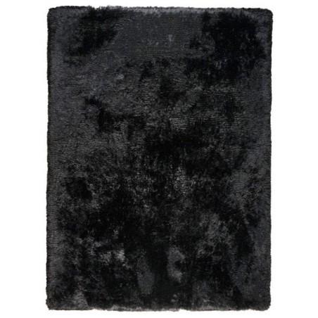 Tapis haut de gamme shaggy noir Adore par Ligne Pure