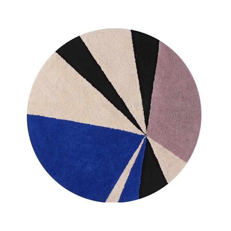 Tapis lavable en machine Geometrics Klein par Lorena Canals